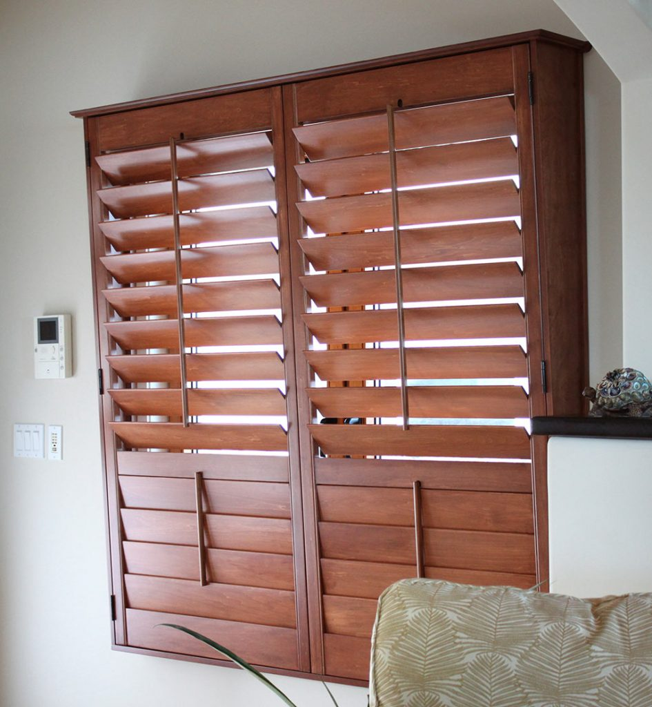Wood Stained Shutters